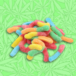 Cannabis Sour Bummy Worms Gummy Candy