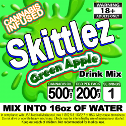 Skittlez Cannabis Beverage Mix - Green Apple
