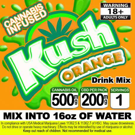 Kush Cannabis Beverage Mix - Orange