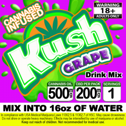 Kush Cannabis Beverage Mix - Grape