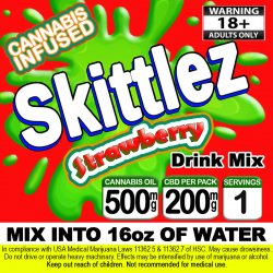 Skittlez Cannabis Beverage Mix - Strawberry