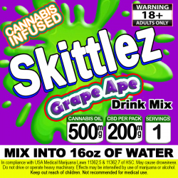 Skittlez Cannabis Beverage Mix - Grape Ape