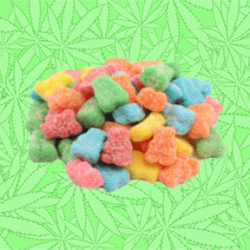 Cannabis Sour Slumpy Bears Gummy Candy