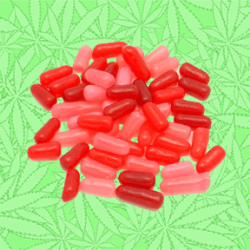 Cannabis Mike'n Ike Candied Mixed Berry Pieces