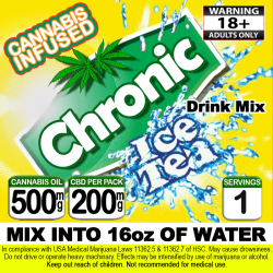 Chronic Iced Tea Cannabis Beverage Mix - Original Lemon