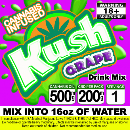 Kush Cannabis Beverage Mix - Grape