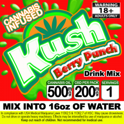 Kush Cannabis Beverage Mix - Berry Punch