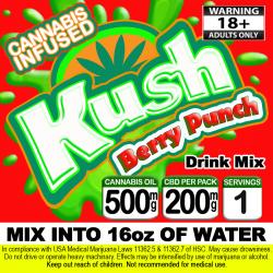 Kush Cannabis Beverage Mix - Berry Punch