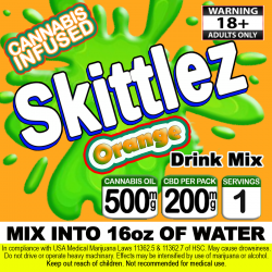 Skittlez Cannabis Beverage Mix - Orange